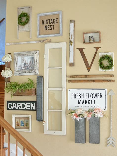 Home Decorating Things farmhouse style gallery wall for spring