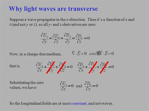 Are Light Waves Transverse by Maxwell S Equations Light Waves Ppt