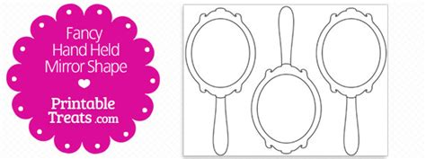 coloring page of held mirror printable fancy mirror shape template printable