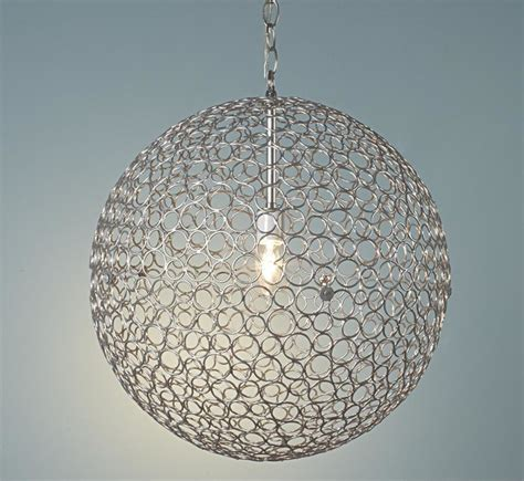 Sphere Pendant Light Silver Circles Sphere Pendant Light Pendant Lighting By Shades Of Light