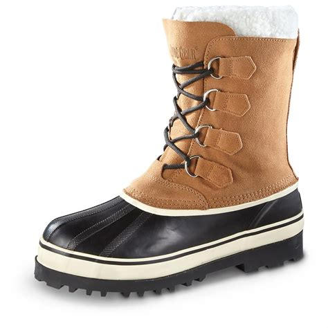 mens lined winter boots guide gear s hovland wool lined winter boots 618216