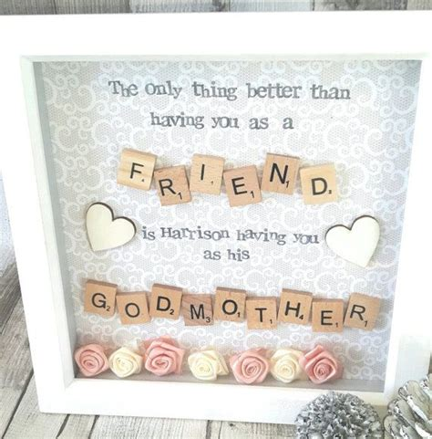 godmother frame gift for godparents christening gifts