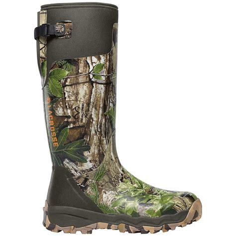Womens Camo Rubber Boots s 15 quot lacrosse 174 alphaburly pro realtree xtra 174 camo