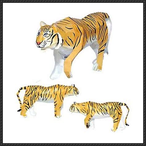 Tiger Papercraft - papercraftsquare new paper craft animal paper model