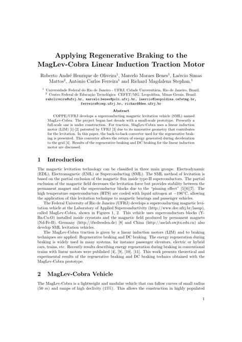 research paper on maglev applying regenerative braking to the pdf