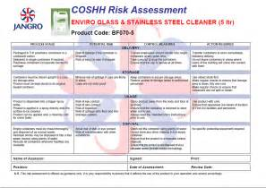 coshh inventory template coshh assessment form