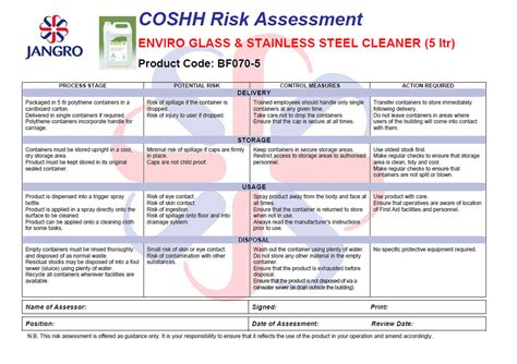 best photos of coshh assessment forms template sign up