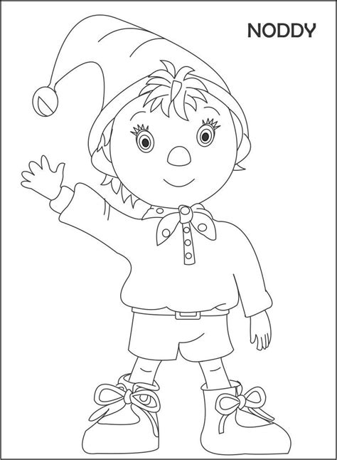 noddy coloring pages games noddy and friends coloring pages