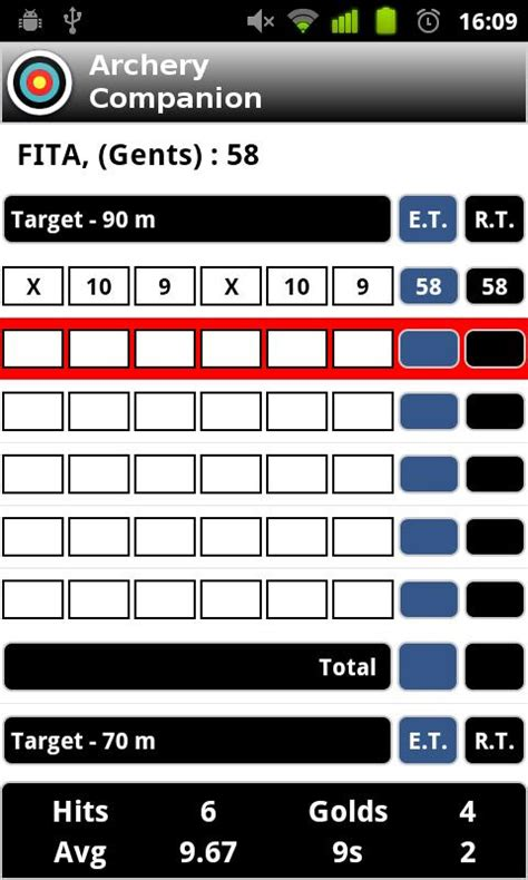 archery 300 scoor card template archery companion android apps on play