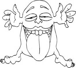 free silly monster coloring pages