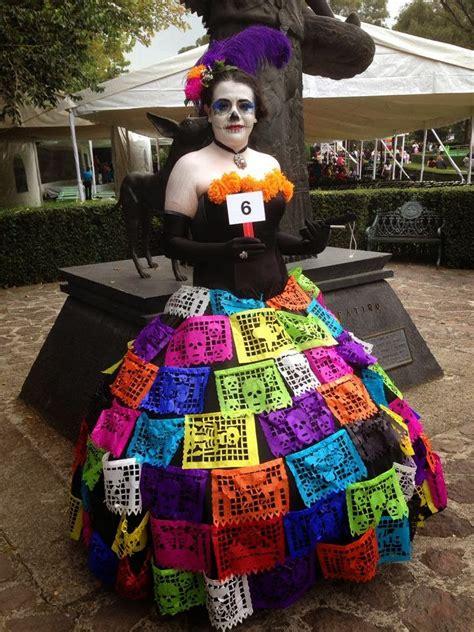 disfraz de la catrina vestidos reciclanos de catrina
