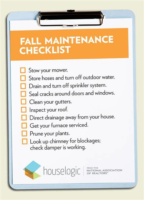fall home maintenance checklist stl simple tranquil living