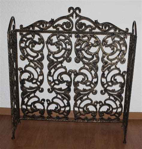 Fireplace Wrought Iron Screens by Wrought Iron Fireplace Screen With A Bronze Look Catawiki