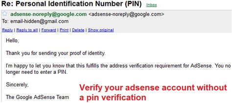 adsense verification code how to verify google adsense account without pin code
