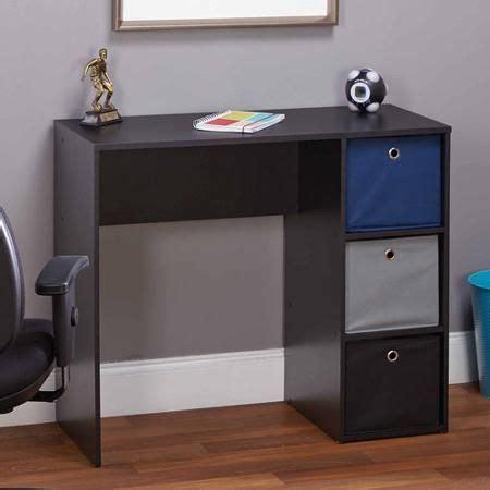 Student Writing Desk With 3 Fabric Bins Walmart Com Student Writing Desk