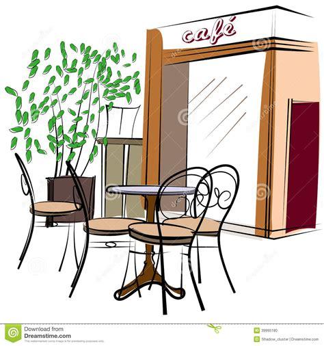 Hand Drawn Paris Cafe Stock Vector   Image: 39995180