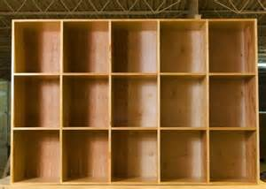 custom made large cubby storage bin shelves by