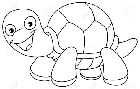 Turtle Outline Vector by Best Turtle Clipart Black And White 12968 Clipartion