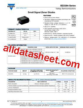 transistor datasheet vishay bzx384c13 datasheet pdf vishay siliconix
