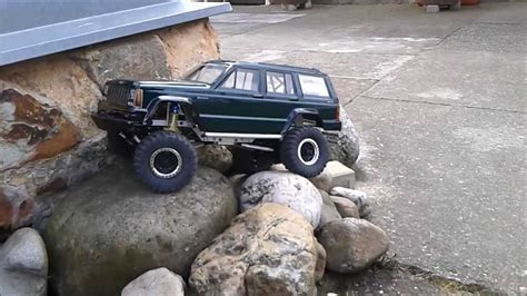 jeep rock crawler rc rc jeep cherokee rock crawler cz youtube