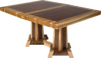 Timber Kitchen Table Dining Table Mixed Wood Dining Table