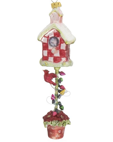 marijuana christmas ornament birdhouse flower pot personalized ornament