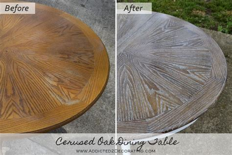 Staining Unfinished Oak Cabinets Cerused Oak Dining Table Table Makeover Finished