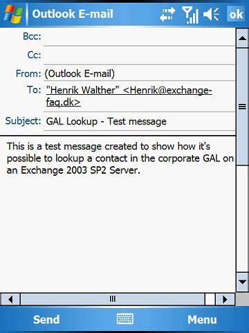 Postal Address Lookup By Name Exchange 2003 Mobile Messaging Part 4 Accessing The Corporate Gal From Your Mobile