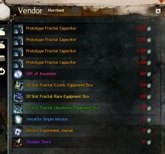 fractal capacitor infused code gw2 agony infusions slot and agony resist guide dulfy