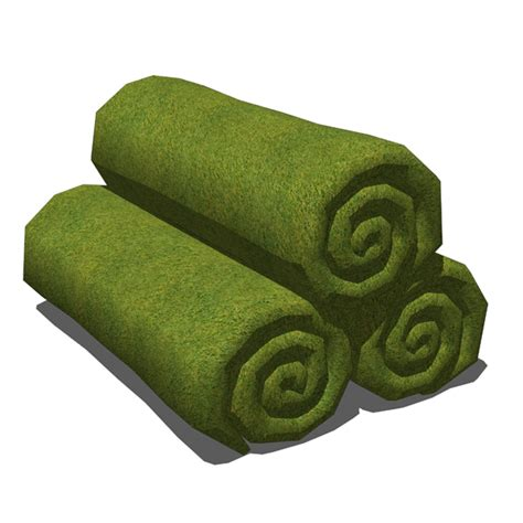 Rolled up towels 3D Model FormFonts 3D Models & Textures