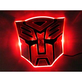 Emblem 3d Transformer Magnetic Neomydium transformers 3d autobots led logo for car suv sedan