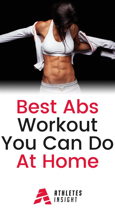 best abs workout you can do at home athletes insight