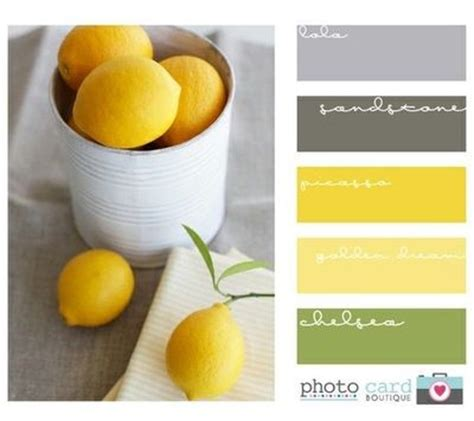 gray and yellow color schemes yellow green grey color scheme home office pinterest