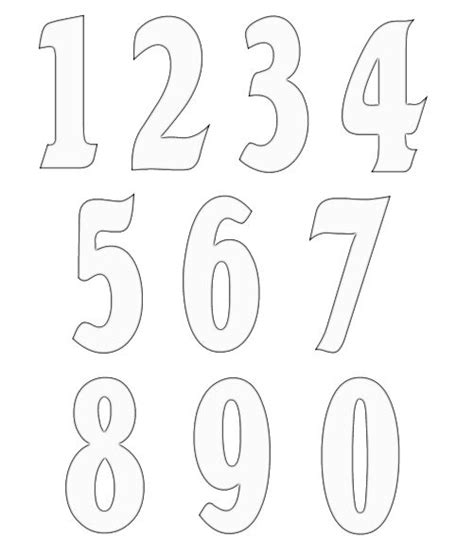 free numbers templates 2