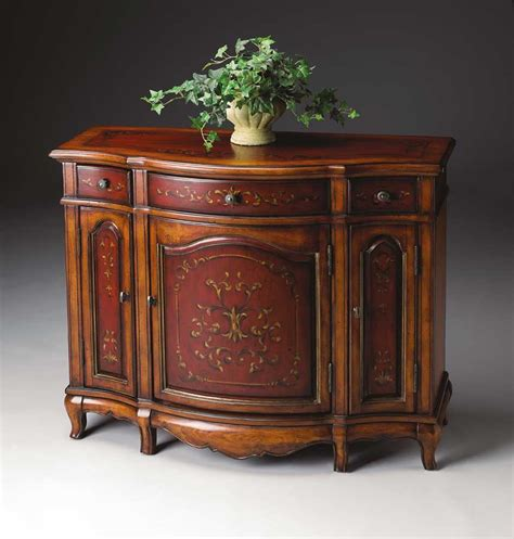 Butler Cabinet by Butler 1684176 Cherry And Paint Console Cabinet