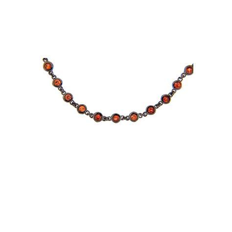 Wst 11021 Chain Necklace Black dilamani jewelry orange sapphire 32 chain