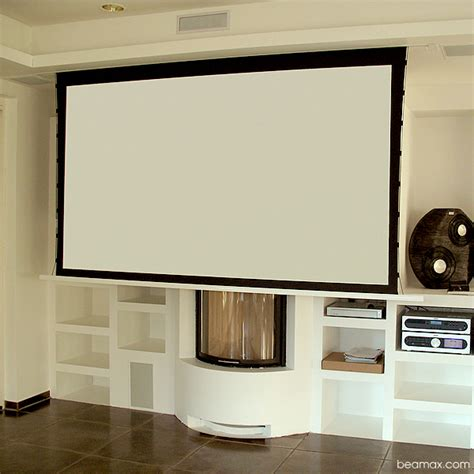 projector screen ceiling beamax in ceiling projection screen balances high end