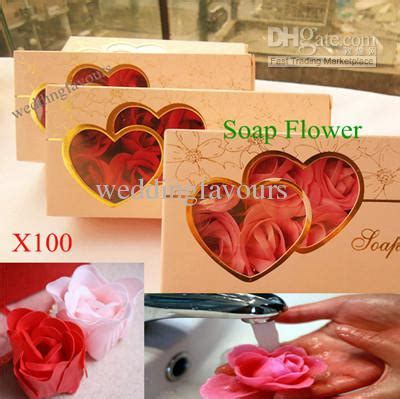100pcs Soap Flower Bath And Works Petal Bath Soap Wedding 2017 pink handmade bath soap flower soap petals soap flower favors gift box from