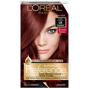 loreal auburn hair color l oreal superior preference fade defying color
