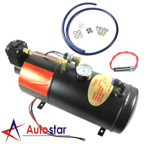 12v dc 150psi truck on board air horn air compressor with 3 liter tank ebay