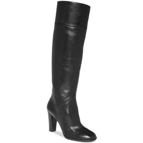 enzo angiolini sabyl dress boots in black black leather