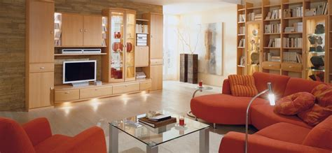 Orange Couches Living Room by Modern Living Room Interior Designs From Musterring