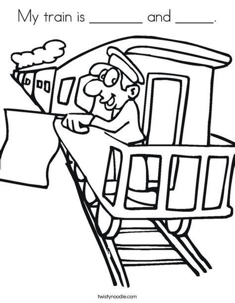 coloring page of train conductor train condeuctor colouring pages