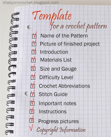 design pattern guidelines how to write a crochet pattern simple and detailed