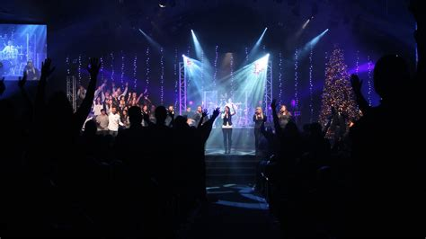 Church Stage Lighting by Dangling Lights Church Stage Design Ideas