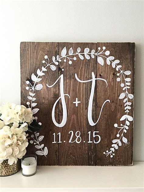 wedding gift sign ideas wedding decor monogram wedding