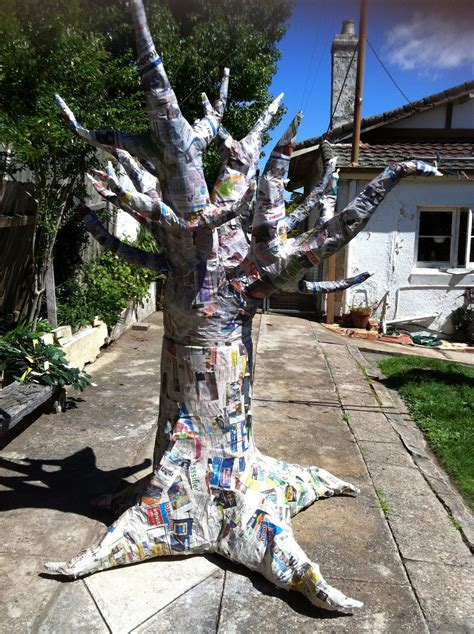 How Do You Make Paper From A Tree - in clay how to make a paper mache tree