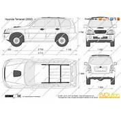 The Blueprintscom  Vector Drawing Hyundai Terracan