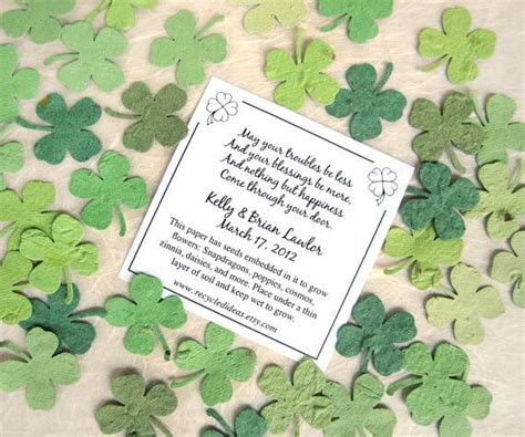 Kiwi Wedding Blessing by 200 Plantable Paper Clovers Flower Seed Confetti Clovers