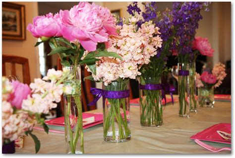 How To Make Peony Centerpieces For A Diy Wedding Shower Bridal Shower Flower Centerpieces